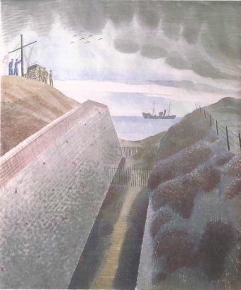 Coastal Defences by Eric Ravilious, 1940