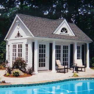 Best 25 pool house shed ideas on pinterest shed space for Pool guest house plans