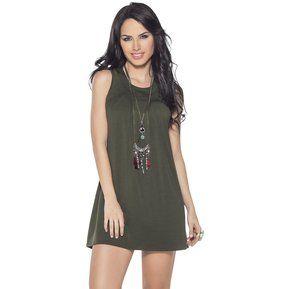 Vestido Juvenil Femenino 64820 Verde Militar