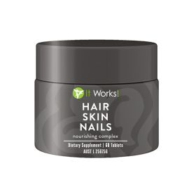 Be ready to look and feel your beautiful best with the nourishing complex of Hair Skin Nails! Nourish your hair, skin and nails from the inside out! Packed with essential vitamins, minerals, and plant based nutrients,