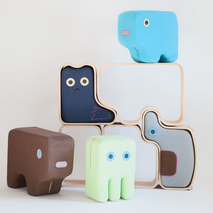 Designed by DesignLibero, Animaze are kid-friendly upholstered animals that rest inside of wood outlines that can be played with together or separately.