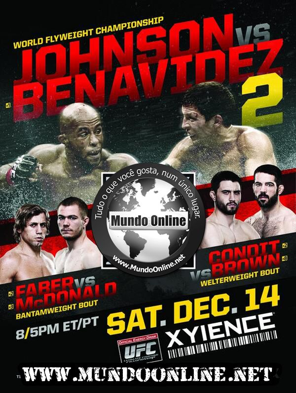 UFC Johnson x Benavidez assistir online 14/12/2013