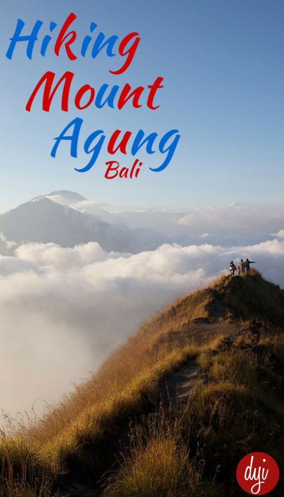 Agung is the highest volcano in Bali.
