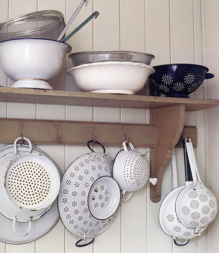"Fabulous farmhouse brocante filled shelf from the book ""Junk Style"" by Melanie Molesworth one of my favourites"