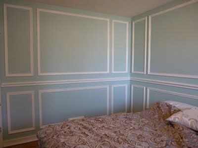DIY d e s i g n: Installing Molding Panels    This is possibly the cheapest way to overhaul a room to have a french feel.