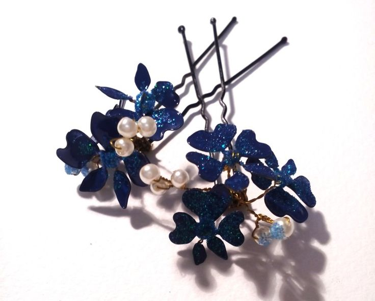 Проволока + лак = шпилька для волос. Wire + nail polish = hair pin.  #anastasiya_art