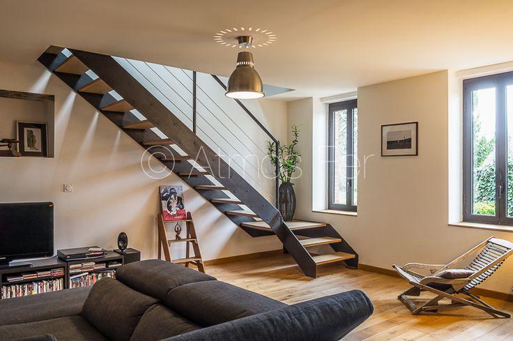 les 13 meilleures images du tableau escalier fer et bois. Black Bedroom Furniture Sets. Home Design Ideas