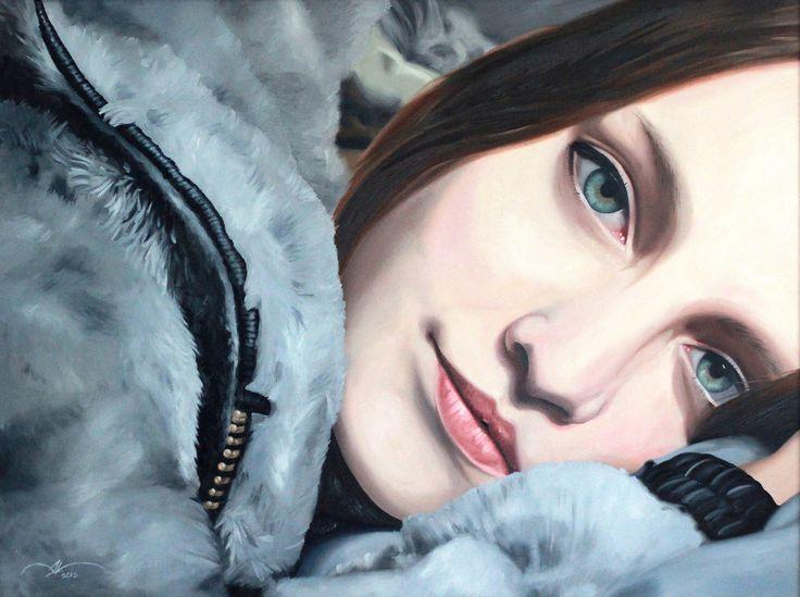 Carla.  Oil on canvas 60 x 80 cm.  Follow my work on facebook and instagram : @DanielaValentiniArt
