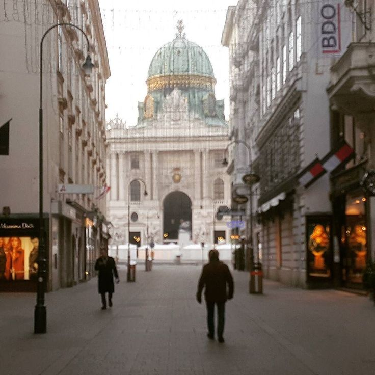 Two men in the street #Sunday #imperial palace #hofburg #vienna