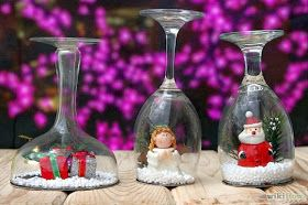 Globo de neve para enfeitar sua mesa de natal