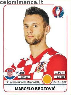 UEFA EURO 2016™ Official Sticker Album: Fronte Figurina n. 446 Marcelo Brozović
