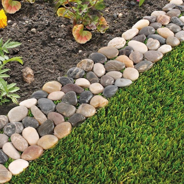 Pack Of 8 Garden Flower Bed Edging, How To Build A Stone Garden Edge