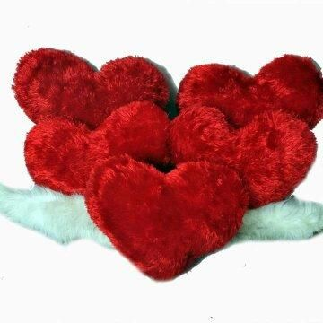 Red Color Valentine Heart Cushion Pack Of 5