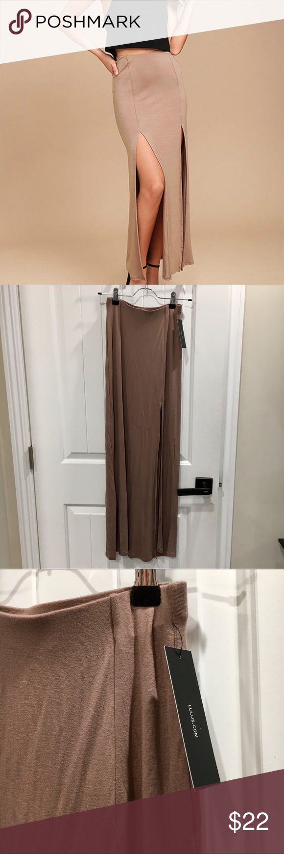 NWT Lulu's maxi skirt Actual color is between stock photo and original photo. Currently selling for $36 on Lulu's site Lulu's Skirts Maxi