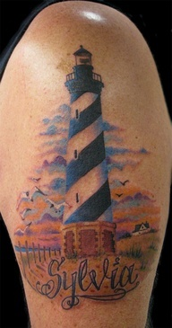 Cape Hatteras Lighthouse. Using this as memorial tattoo