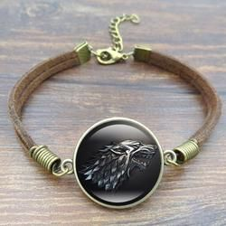 Bracelet Of Ice and Fire Stark Wolf - coolfashionproducts