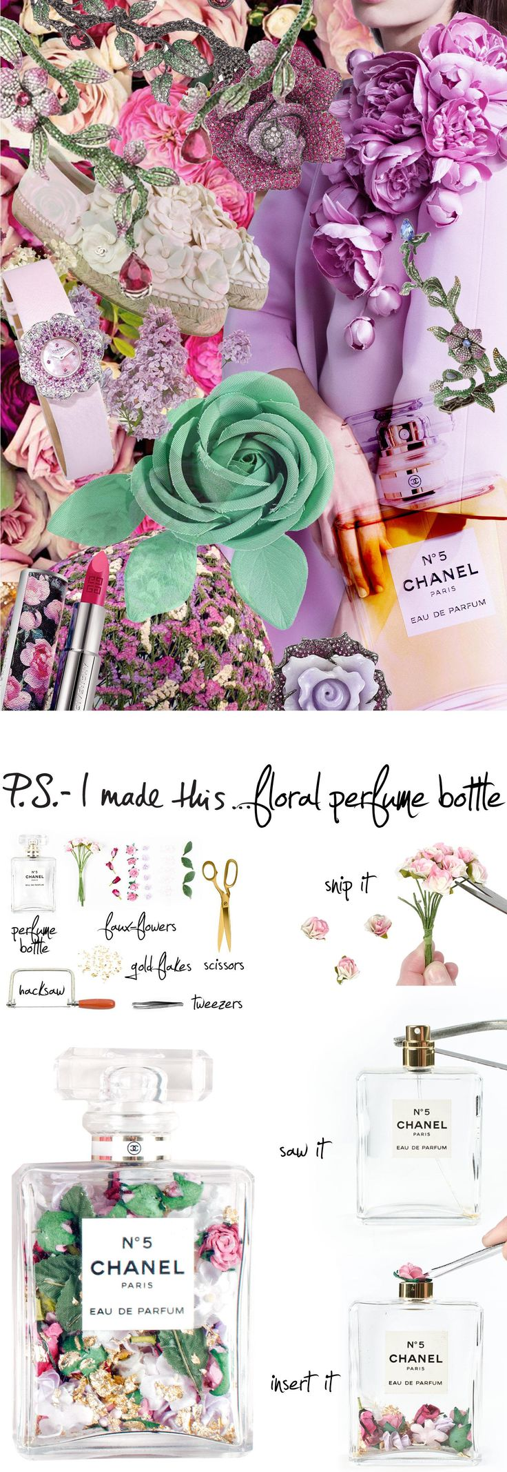Make use of your empty perfume bottles with this DIY.