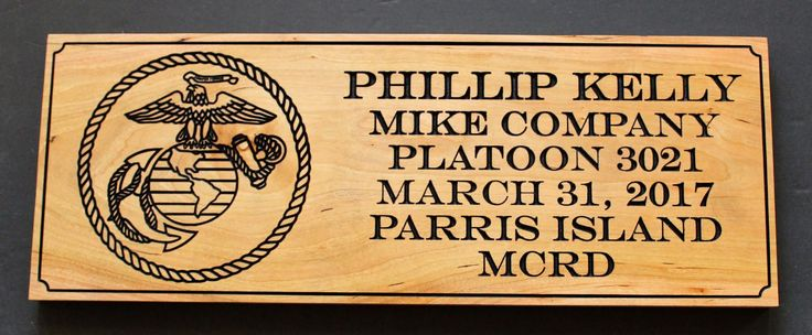 USMC Personalized Wall Art - Marine Corps Boot Camp Graduation Gift - Military Retirement Gift - Carved Wood Sign by Wallyswoodcrafts on Etsy