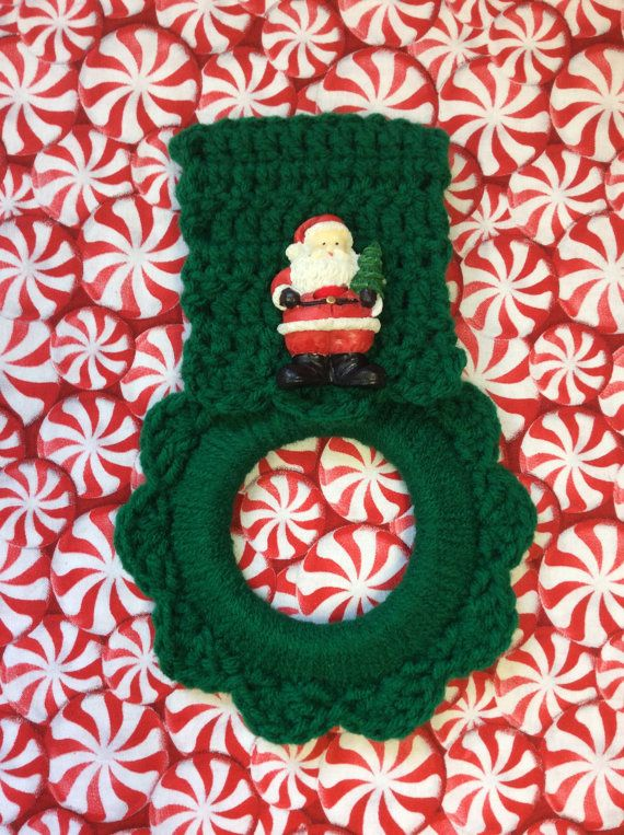 Hey, I found this really awesome Etsy listing at https://www.etsy.com/listing/259449550/christmas-kitchen-towel-hanger-hostess