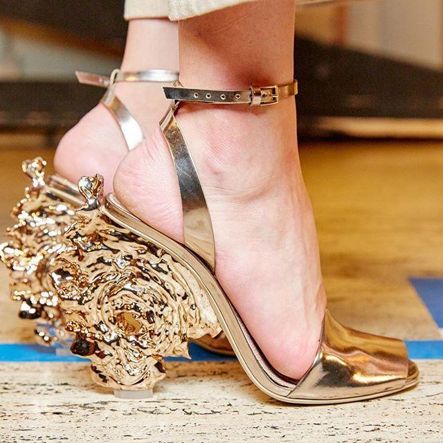 ..shoes at @toryburch #fashionweek #ss16 ( by @marklphoto)