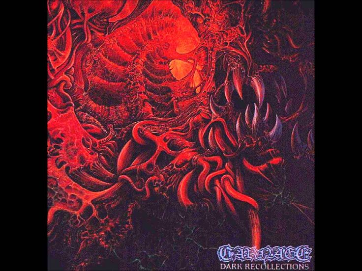 CARNAGE - Dark Recollections ◾ (album 1990, Swedish death metal)
