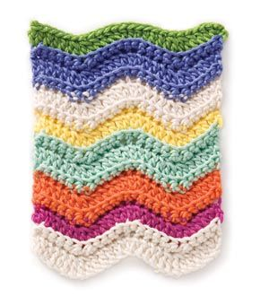 Chevron crochet project.