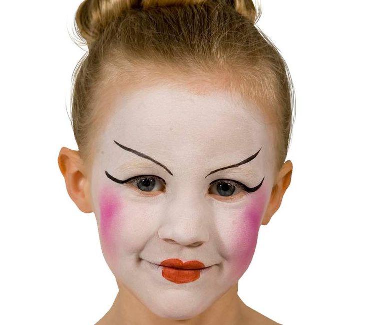 Grimtout, maquillage à l\u0027eau, princesse chinoise, étape 1