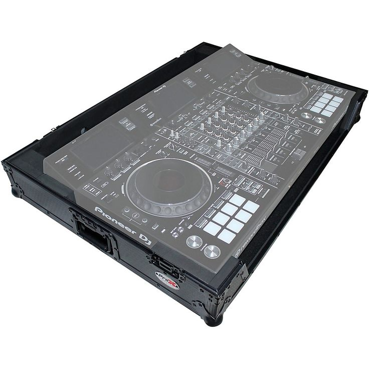 ProX XS-DDJRZXWBL Black ATA Style Flight Road Case for Pioneer DDJ-RZX DJ Controller with Wheels Black