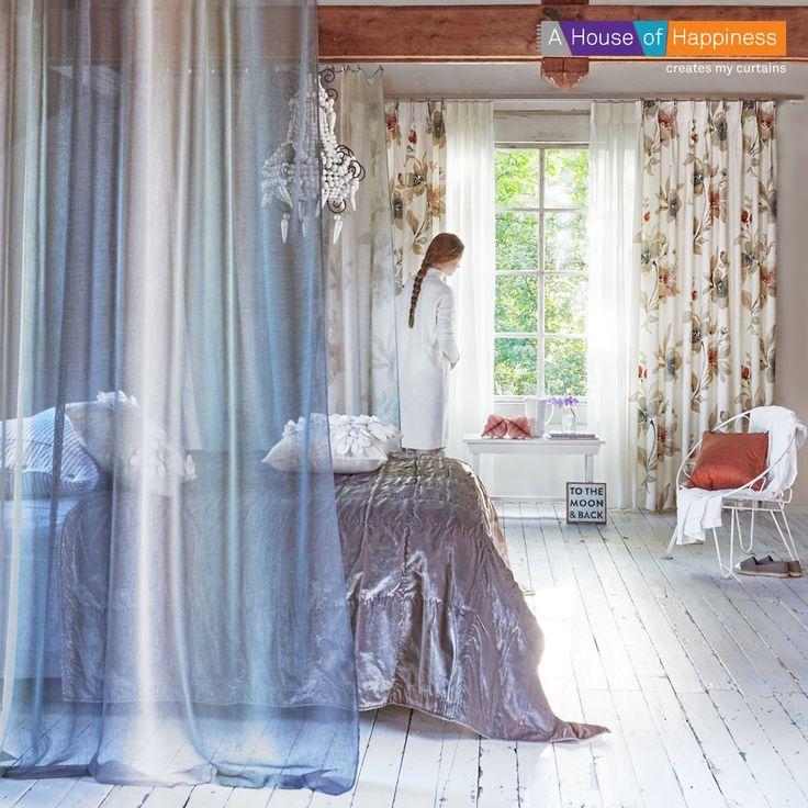 Watercolors | soepel gebloemde gordijnstoffen en waterig kleurverloop #gordijnen #kussens #curtains #cushions #Gardinen #Vorhänge