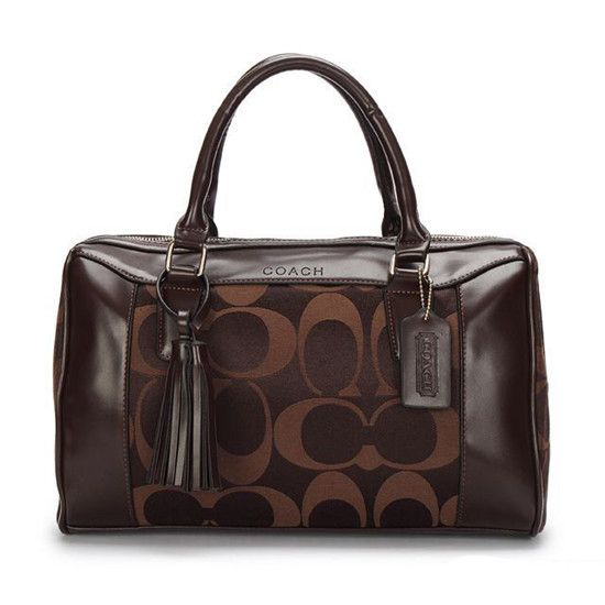 Coach Legacy Haley Medium Coffee Satchel AVW ($380)