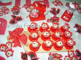 decoração chá de cozinha vermelho branco - Pesquisa Google