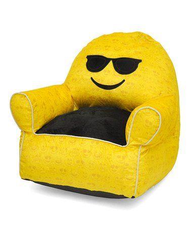 Another great find on #zulily! Sunglasses Emoji Bean Bag chair #zulilyfinds
