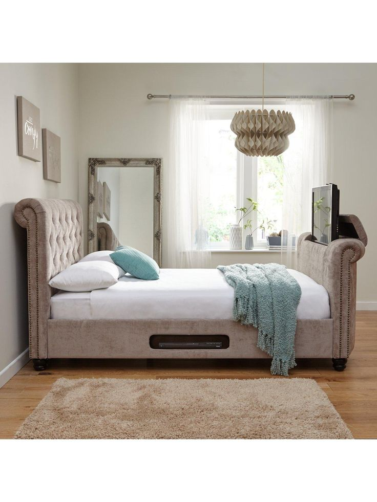 Stowe TV Bed with Optional Mattress | very.co.uk