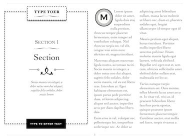 Novel Template for iBooks Author, available at http://ibooksauthortemplate.com/templates/details/Novel