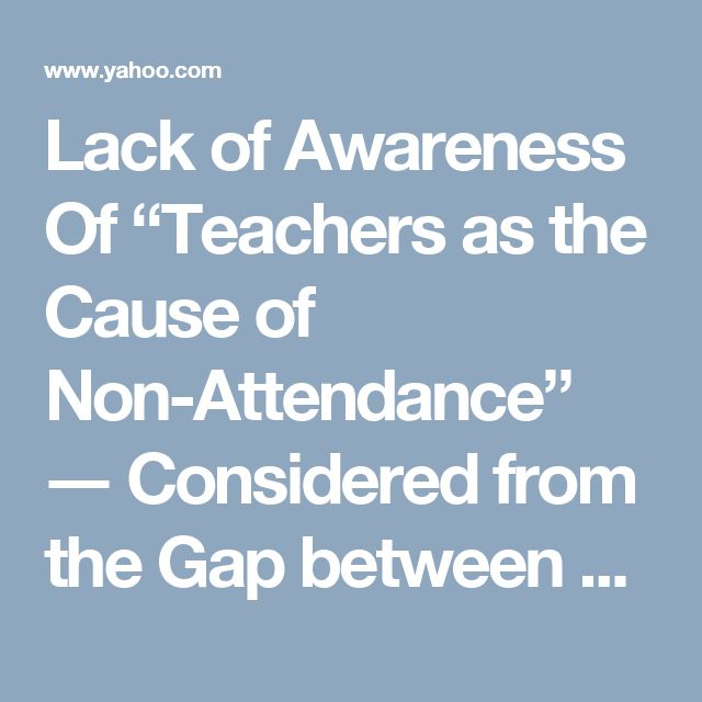 "Lack of Awareness Of ""Teachers as the Cause of Non-Attendance"" ― Considered from the Gap between School Survey and Student Survey"