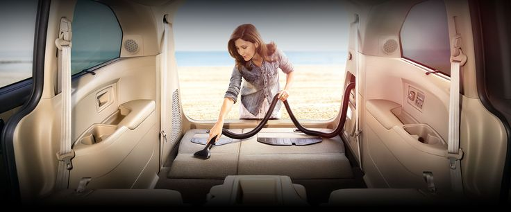 With a long reach and removable waste bin, this built-in vacuum makes it easy to clean the entire interior  #HoehnHonda #Carlsbad #CA #2016 #Honda #Odyssey #Van #Family