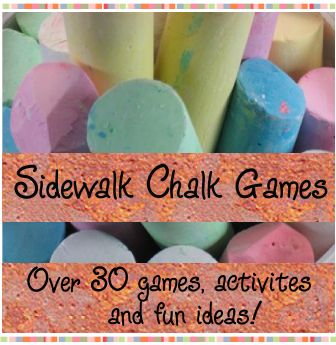 Sidewalk Chalk Games - Games to Play pavement Chalk / Over 30 fun pavement chalk games, activites and fun ideas for kids of all ages!