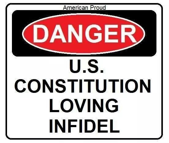Definition of Infidel:  unbeliever; someone who does not believe in a major religion; somebody with no religious belief.    Atheist maybe???? Hey, how 'bout that! I'm an infidel too! And, of course, you know it--their next fb post was an I love jesus post.  lmao  duh Yeah buddy, nothing like a 'true' christian who hates.