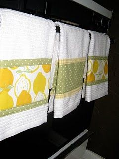Spruced up Kitchen Towels