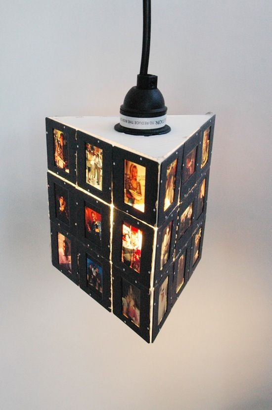 slide lamp - great idea for old slides and a sentimental gift