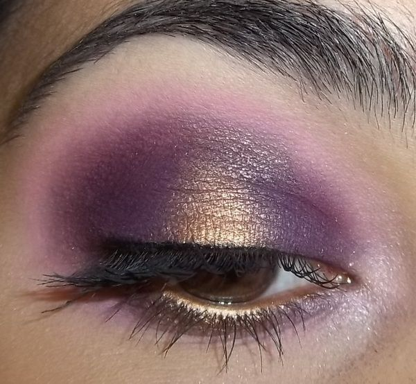 Purple Pink And Gold Eyes
