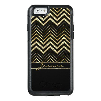 #Trendy Diamonds And Gold Chevron Pattern OtterBox iPhone 6/6s Case - #trendy #gifts #template
