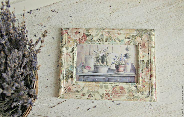 Купить Фоторамки Прованс - рамка, фоторамка, рамка для фотографий, винтаж, потертости, розы, пастельные тона