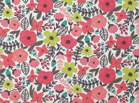 """Sarawak V3008/01 Tutti-Frutti  Contemporary Prints        Description Vibrant multi-coloured floral printed on Geneva.Geneva is a washable plain weave with a wonderfully soft, brushed finish.      Collection Sarawak      composition 60% CO   40% LI        width 140 cms (55.1 """")      pattern repeat vertical: 63.0 cms (24.8 """") HD      horizontal: 68.0 cms (26.8 """")      martindale 20,000"""