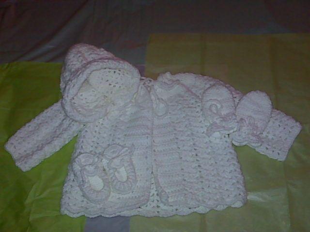 Free Crochet Baby Dress Patterns Baby Sweater Set Free