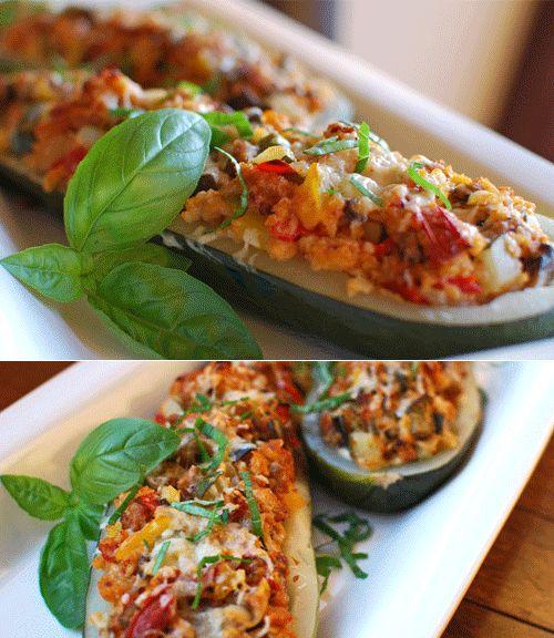 La Ricetta delle Zucchine Ripiene di Pollo