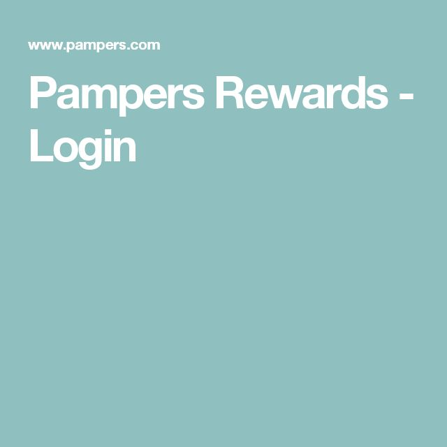 Pampers Rewards - Login