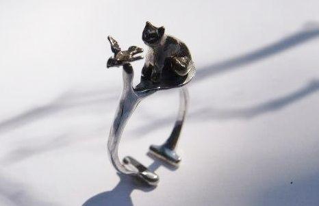 sueños de gato, plata , bronce