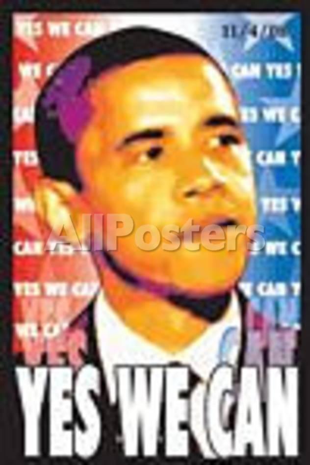 Barack Obama Yes We Can Flocked Blacklight Poster People Blacklight Poster 58 X 89 Cm Barack Obama Barack Obama