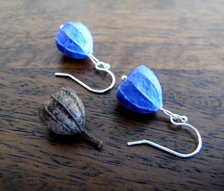 Purple Resin Earrings Handmade - Australian Gumnut - Jurassic Jewellery by JurassicJewelleryAus on Etsy